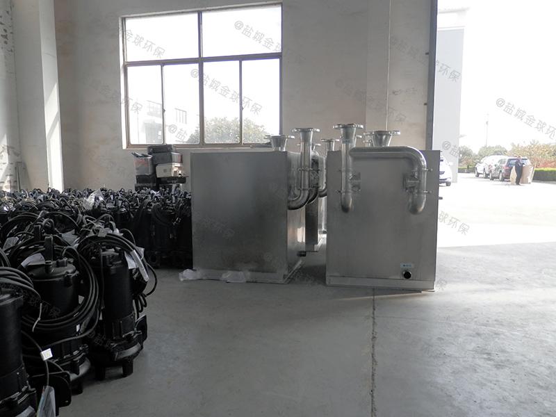 十堰工地食堂简易下水除渣隔油提升一体化设备防水