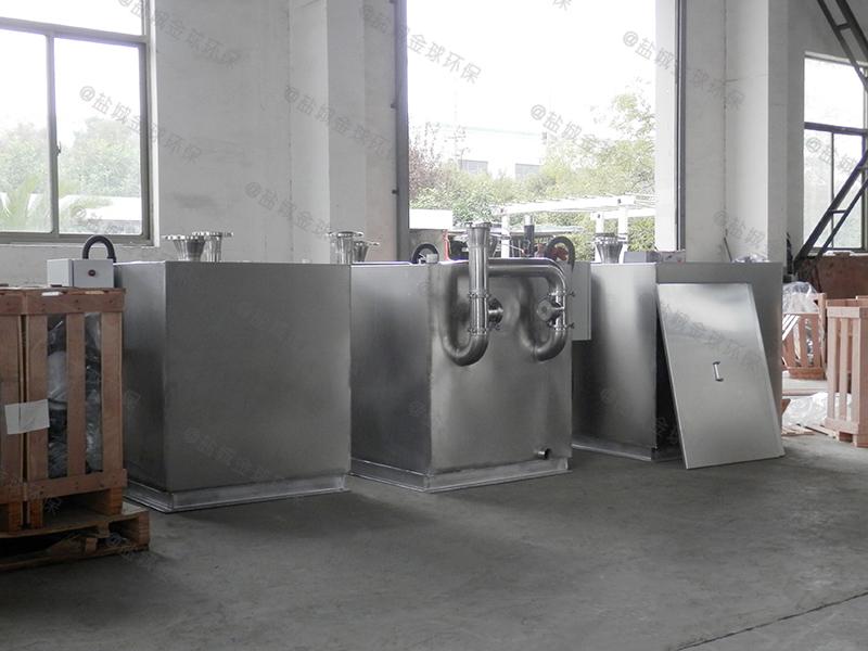 咸宁火锅店用的厨房下水隔油提升装置形式