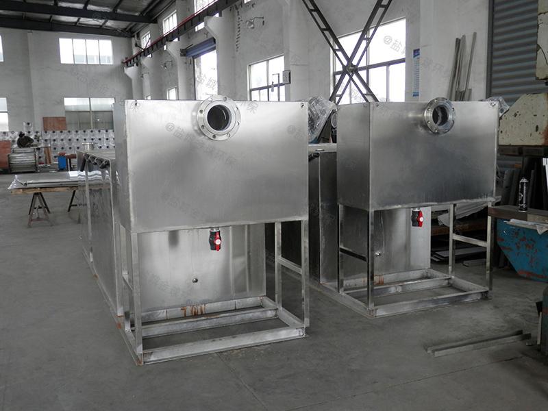 襄阳饭店厨房下水除渣隔油提升设备选配参数