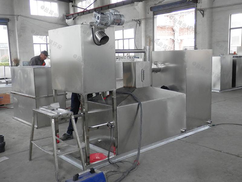 黄冈食堂用的油水分离器维护