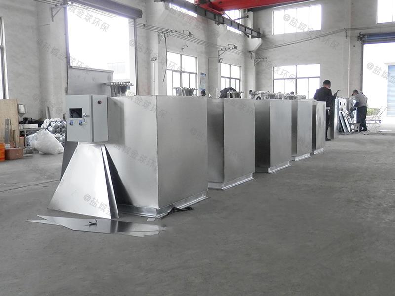 襄阳环保局厨房下水除渣隔油提升设备的安装