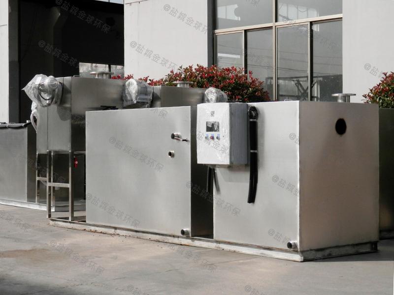 宜昌餐厨废水全自动厨房下水除渣隔油提升一体化设备新技术