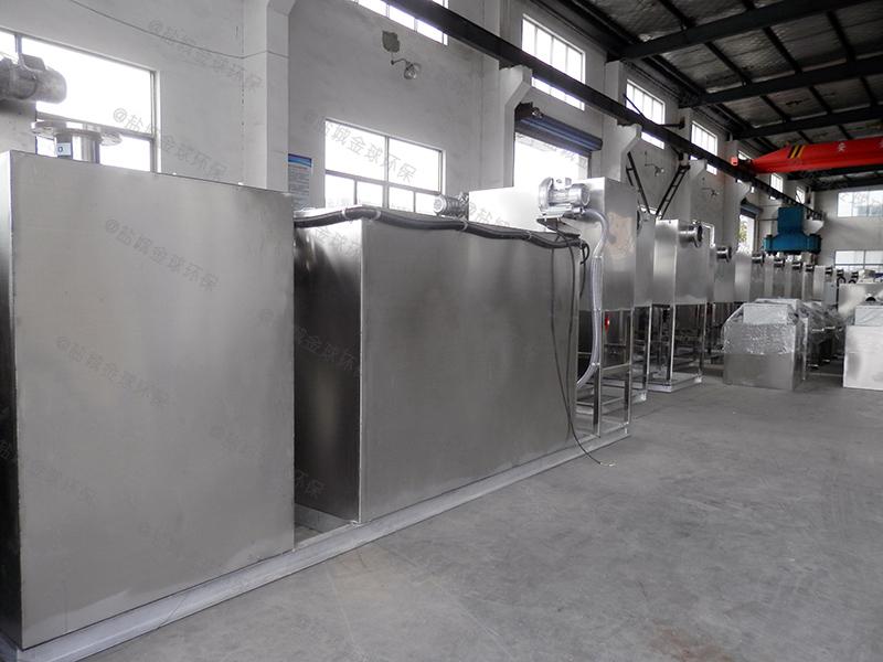 黄石工地食堂简易油水分离器设备残渣