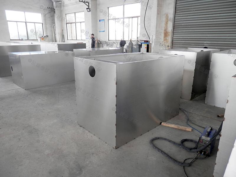 武汉工地食堂简易油水分离成套设备除油效率